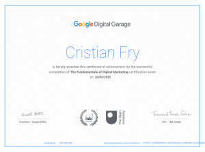 Google Digital Marketing Course Certificate